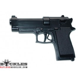 Black Revolver Gun Pistol Belt Buckle