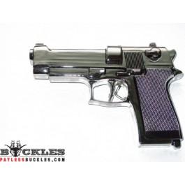 Silver Revolver Pistol Gun Pistol Belt Buckle