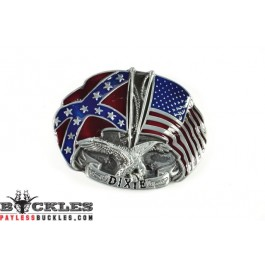 Dixie Confederate USA Flag Belt Buckles