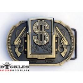 Dollar Lighter Belt Buckle