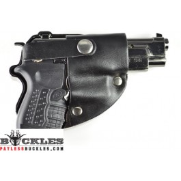 Gun with Butane Lighter Belt Buckle