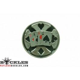 Card Belt Buckle - Spinner Belt Buckle