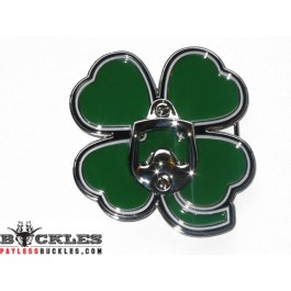 Bottle Opener Shamrock Irish Clover Leaf Belt Buckle
