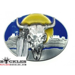 Steer Head Indian Belt Buckle
