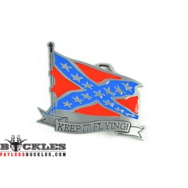 Rebel Confederate Flag Belt Buckle