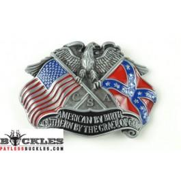 American Southern Flag Belt Buckle