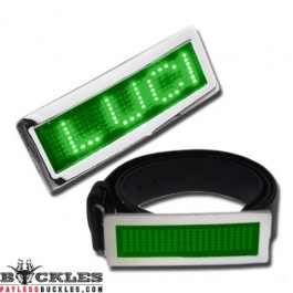 Green Scrolling LED Belt Buckle