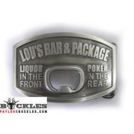 Lou's Bar Bottle Opener Belt Buckle
