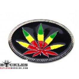 Weed POT Marijuana Belt Buckle