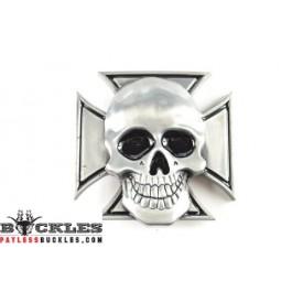 Iron Cross Skull Belt Buckle