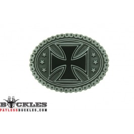 Cross with Motorcycle Chain Belt Buckle