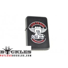 Cigarette Lighters with Motorcycle Live to Ride Logo