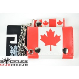 Canada Flag Chain Wallet
