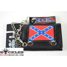 Confederate Flag Chain Wallet