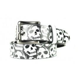 Print Belt with Skull