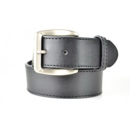 Leather Belt with Buckle Stitched