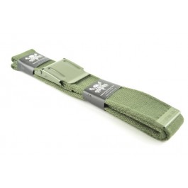 Military Web Canvas Belt Plain Green
