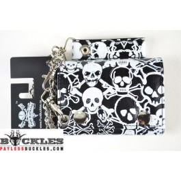 Cross bone Skull Chain Wallet