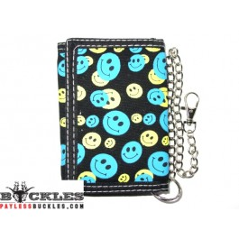Smiley Face Chain wallet