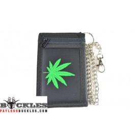 Marijuana Leaf Chain Wallet
