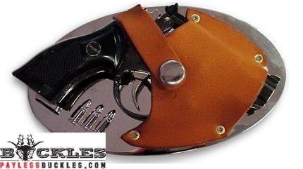 Snub Nose Gun Butane Lighter Belt Buckle
