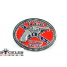 Gun Confederate Flag Dixie Belt Buckle