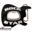 Rock Star Bottle Opener Guitar Belt Buckle
