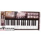 Rhinestone Piano Keyboard Belt Buckle