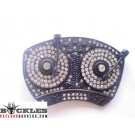 Rhinestone DJ Turntable  Belt Buckle