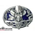 Cowboy Skull Western Belt Buckle