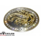 Western Rhinestone Scorpion Belt Buckle