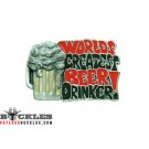 Beer Belt Buckle - Worlds Greatest Beer Drinker Belt Buckle