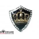 Rhinestone Crown Belt Buckle