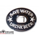Save Water Drink Beer Belt Buckle