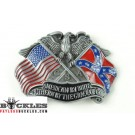 American Southern Flag Belt Buckle