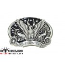 Live to Ride Ride to Live Motorcycle Biker Belt Buckle