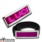 Pink Scrolling LED Belt Buckle