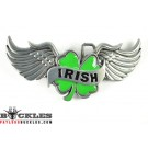 Irish Clover Leaf Belt Buckle