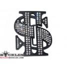 Rhinestone Dollar Belt Buckle