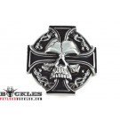 Celtic Cross with Skull Belt Buckle
