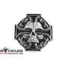 Celtic Cross with Skull Belt Buckle
