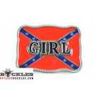 Girl Rebel Confederate Belt Buckle