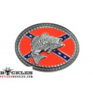 Rebel Confederate Belt Buckle with Fish