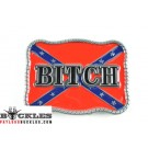 Bitch Rebel Confederate Belt Buckle