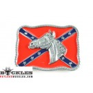Confederate Belt Buckle with Horse