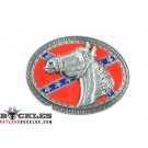 Horse Rebel Confederate Belt Buckle