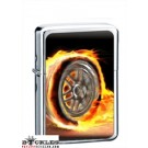 Wheel on Fire Cigarette Lighter
