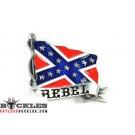 Confederate Flag Rebel Flag Belt Buckle