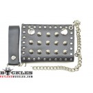 Motorcycle Biker Leather Chain Wallet