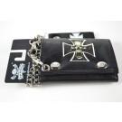 Cross Leather Chain Wallet